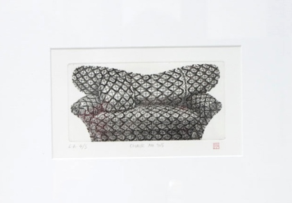 OKAMOTO Hiroko Chair n°105 gravure (4/5) 33x43 cm