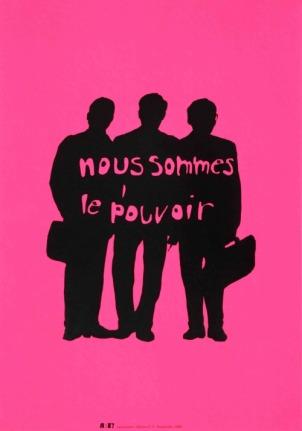 LEROI David Sans titre,2000 Sérigraphie par Alain Buyse affiche n°77 53x38 cm