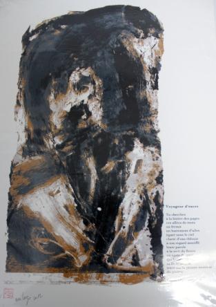 Largo Eva, Voyageur d'encre, 2012, sérigraphie, 30x42cm